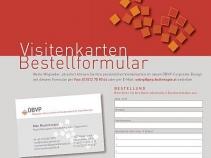 ÖBVP Visitenkarten Bestellformular